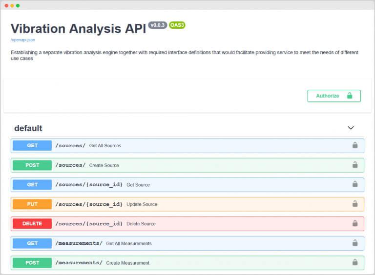 MultiVIz Vibration Analysis API